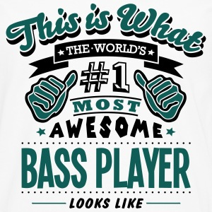 bass player world no1 most awesome - Men's Premium Longsleeve Shirt