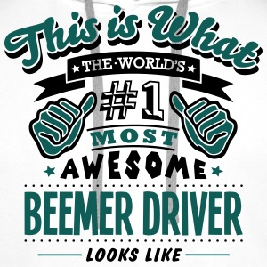 beemer driver world no1 most awesome cop - Men's Premium Hoodie