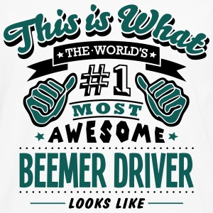 beemer driver world no1 most awesome cop - Men's Premium Longsleeve Shirt