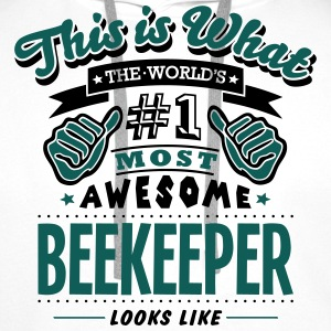 beekeeper world no1 most awesome - Men's Premium Hoodie