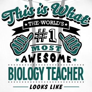 biology teacher world no1 most awesome c - Men's Premium Hoodie