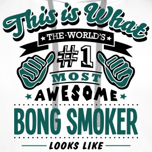 bong smoker world no1 most awesome - Men's Premium Hoodie