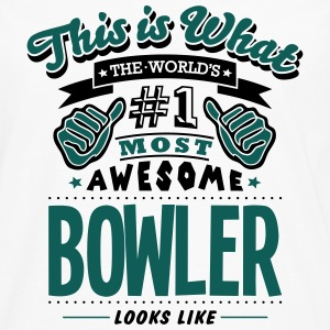 bowler world no1 most awesome - Men's Premium Longsleeve Shirt