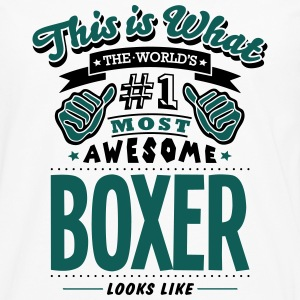boxer world no1 most awesome - Men's Premium Longsleeve Shirt
