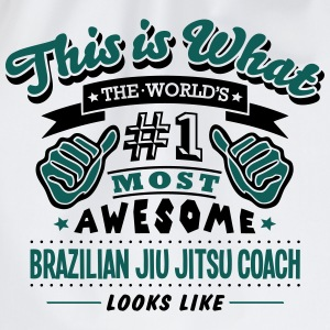 brazilian jiu jitsu coach world no1 most - Drawstring Bag