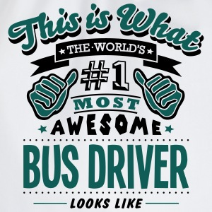 bus driver world no1 most awesome - Drawstring Bag