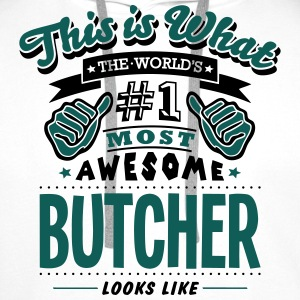 butcher world no1 most awesome - Men's Premium Hoodie