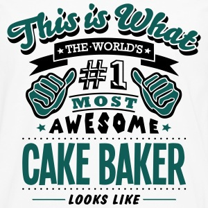 cake baker world no1 most awesome - Men's Premium Longsleeve Shirt