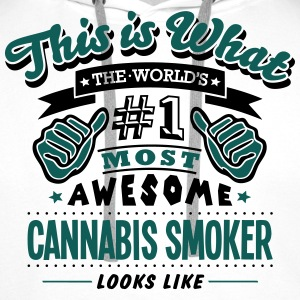 cannabis smoker world no1 most awesome c - Men's Premium Hoodie