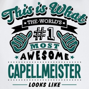 capellmeister world no1 most awesome cop - Drawstring Bag