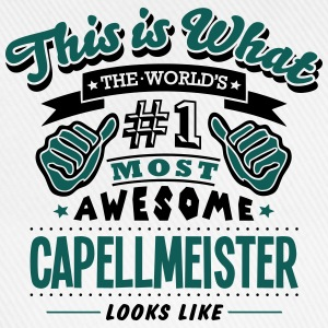 capellmeister world no1 most awesome cop - Baseball Cap