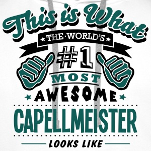 capellmeister world no1 most awesome cop - Men's Premium Hoodie