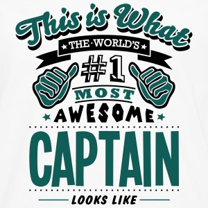 captain world no1 most awesome - Men's Premium Longsleeve Shirt