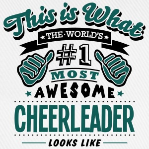 cheerleader world no1 most awesome - Baseball Cap