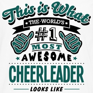 cheerleader world no1 most awesome - Men's Premium Longsleeve Shirt