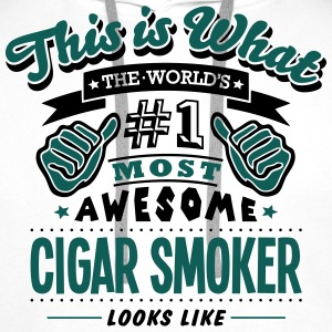 cigar smoker world no1 most awesome - Men's Premium Hoodie