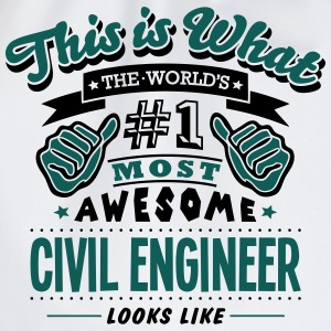 civil engineer world no1 most awesome co - Drawstring Bag