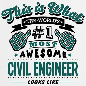 civil engineer world no1 most awesome co - Cooking Apron