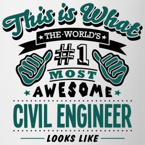 civil engineer world no1 most awesome co - Mug