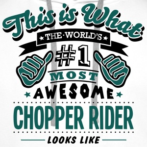 chopper rider world no1 most awesome cop - Men's Premium Hoodie