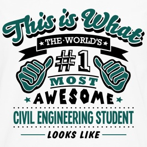 civil engineering student world no1 most - Men's Premium Longsleeve Shirt