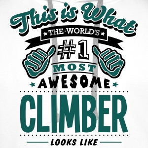 climber world no1 most awesome - Men's Premium Hoodie