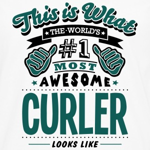 curler world no1 most awesome - Men's Premium Longsleeve Shirt