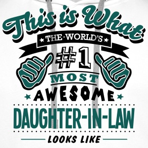 daughterinlaw world no1 most awesome cop - Men's Premium Hoodie