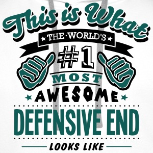 defensive end world no1 most awesome cop - Men's Premium Hoodie