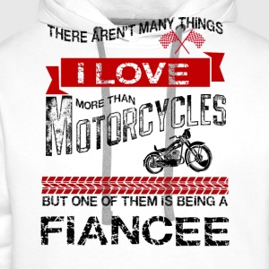 This Fiance Loves Motorcycles T-Shirts - Men's Premium Hoodie