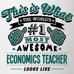 economics teacher world no1 most awesome - Mug
