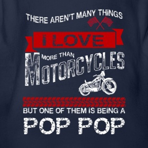 This Pop Pop Loves Motorcycles Shirts - Organic Short-sleeved Baby Bodysuit