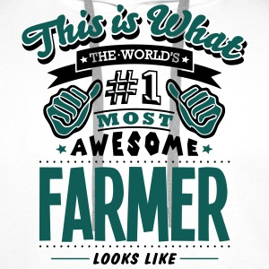 farmer world no1 most awesome - Men's Premium Hoodie
