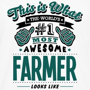 farmer world no1 most awesome - Men's Premium Longsleeve Shirt