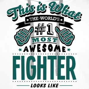 fighter world no1 most awesome - Men's Premium Hoodie