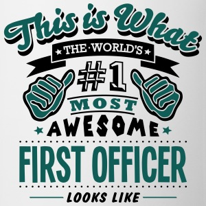 first officer world no1 most awesome cop - Mug
