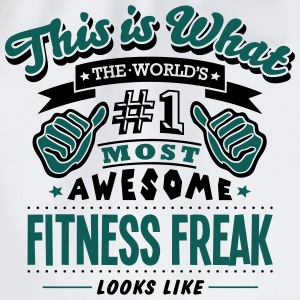 fitness freak world no1 most awesome cop - Drawstring Bag