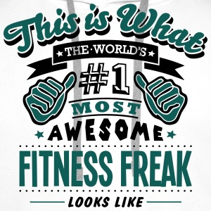 fitness freak world no1 most awesome cop - Men's Premium Hoodie