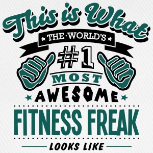 fitness freak world no1 most awesome cop - Baseball Cap