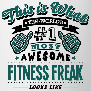 fitness freak world no1 most awesome cop - Mug