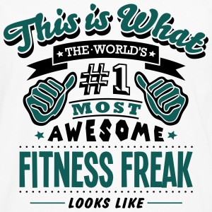 fitness freak world no1 most awesome cop - Men's Premium Longsleeve Shirt