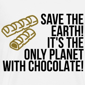Save the Earth. It has Chocolate! (2015) Hoodies - Men's Premium T-Shirt
