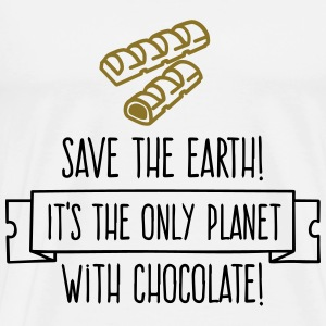 Save the Earth. It has Chocolate! (2015) Sports wear - Men's Premium T-Shirt