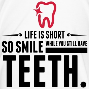 Life is Short. Smile While You Have Teeth! (2015) Mugs & Drinkware - Men's Premium T-Shirt