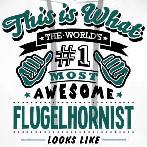 flugelhornist world no1 most awesome cop - Men's Premium Hoodie