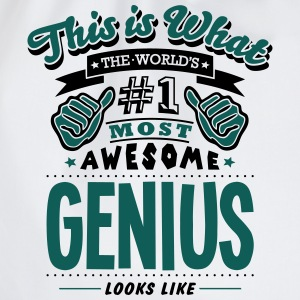 genius world no1 most awesome - Drawstring Bag