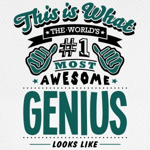genius world no1 most awesome - Baseball Cap