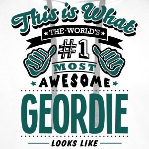 geordie world no1 most awesome - Men's Premium Hoodie