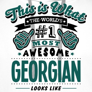 georgian world no1 most awesome - Men's Premium Hoodie