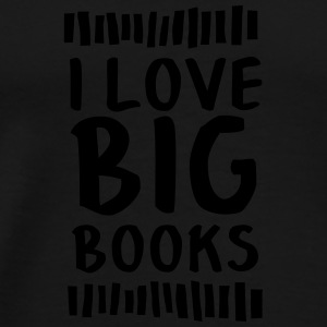 I Love Big Books Krus & tilbehør - Herre premium T-shirt